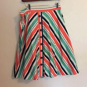 Modcloth bias cut skirt in stripes